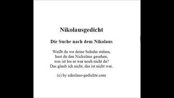 Schöne Nikolaus Gedichte