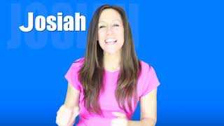 Sing and spell JOSIAH with Patty Shukla for Toddlers and Babies | What's Your Name?