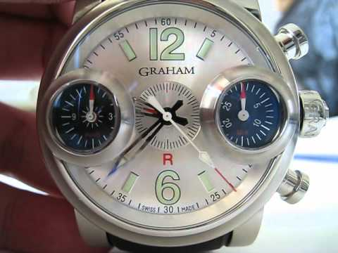 Graham London Swordfish Automatic Chronograph 46mm Right Hand Function Testing