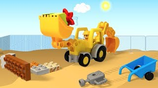 LEGO DUPLO Truck Construction and Train Product Animation Films Compilation