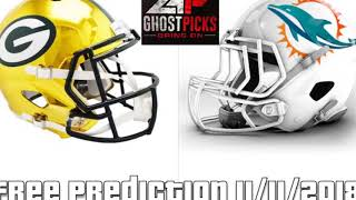 NFL Green Bay Packers vs Miami Dolphins Free Prediction 11/11/2018