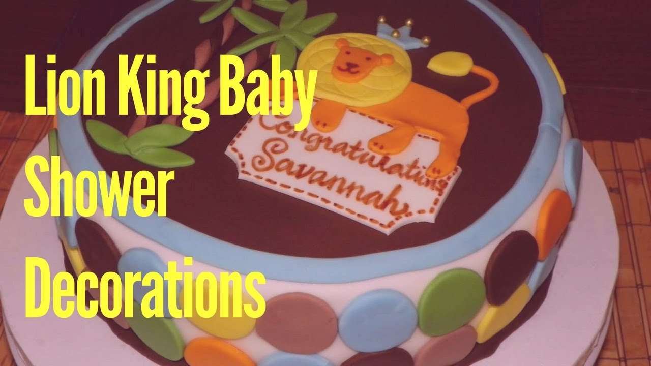 Lion King Baby Shower Decorations - YouTube
