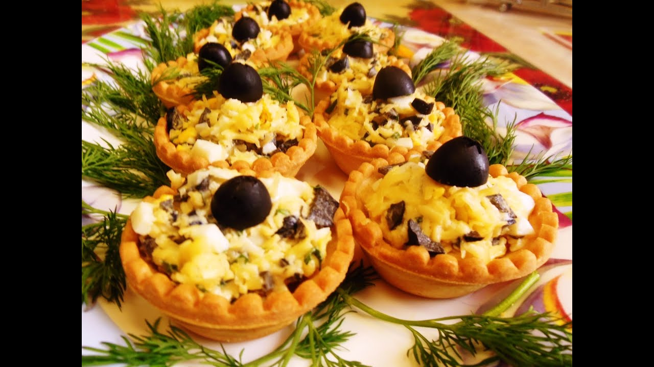 тарталетки с грибами и с сыром в духовке