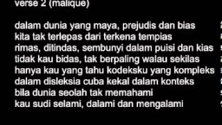Teman Pengganti (with lyrics) - Black & Malique by azmirqarish