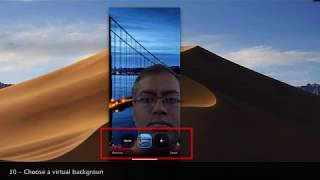 How to set up a virtual background using Zoom iPhone Mobile @Zoom