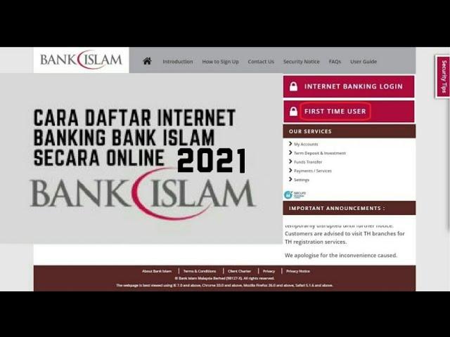 Cara Daftar Bank Islam Online Youtube