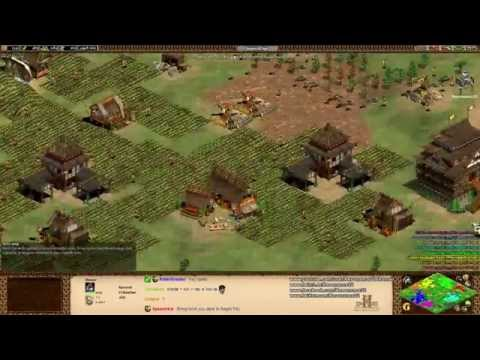 Aoe2 HD: 4v4 Arabia (Persians, Rush Defense and Applying Pressure)