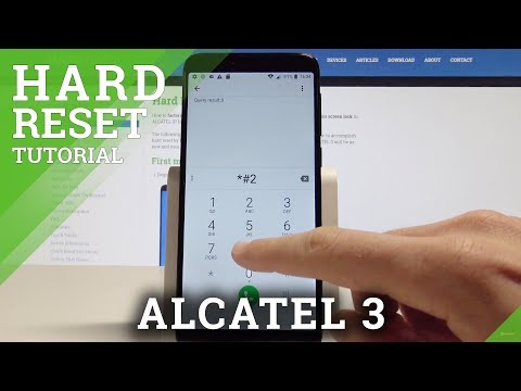 ALCATEL 3 HARD RESET / Wipe Data / Factory Reset by Secret Code