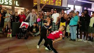Dance battle with our big bros in Santa Monica