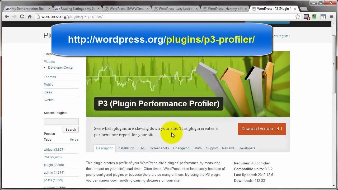WordPress Optimizing for Speed - YouTube