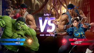 MARVEL VS. CAPCOM: INFINITE Ryu,Hulk Gameplay In Arcade Mode