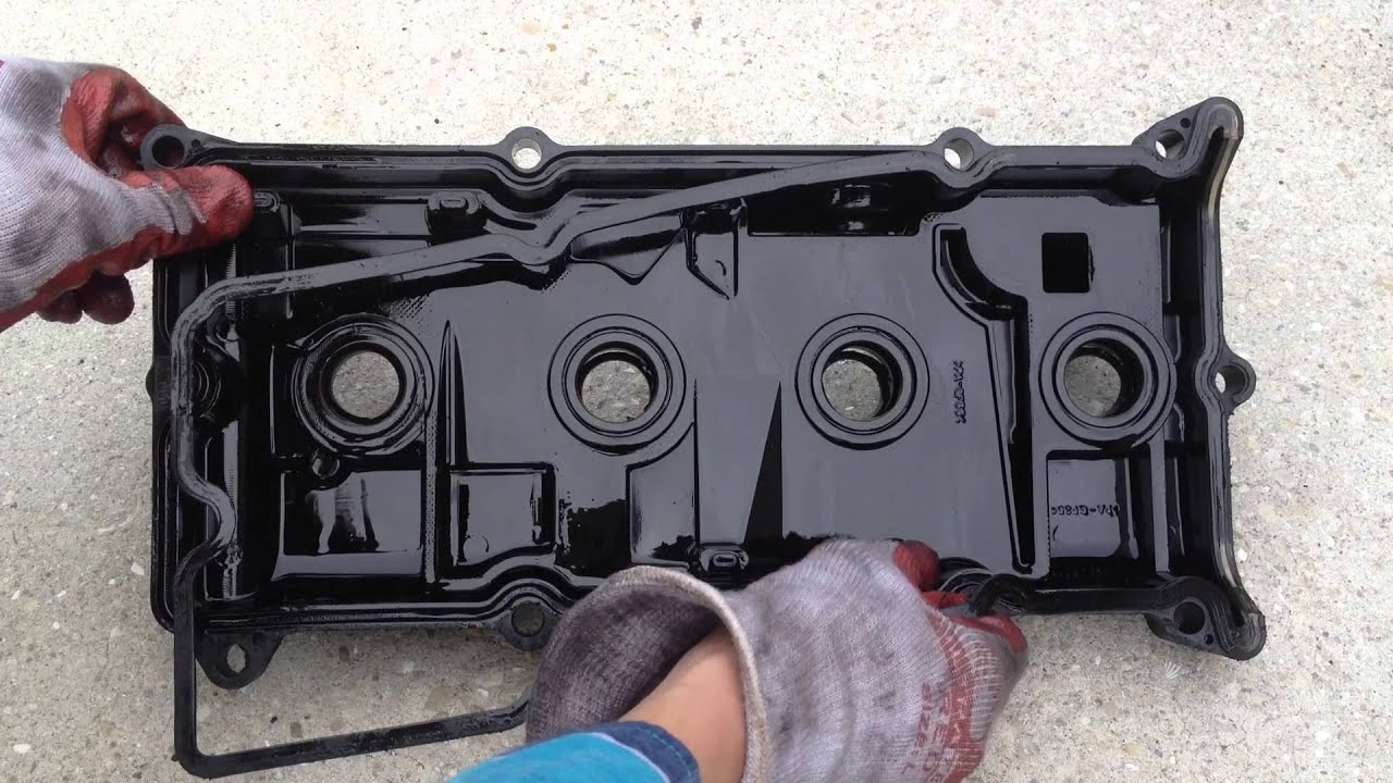 how to fix oil leak cylinder misfire valve cover gasket replacement nissan altima 2003 2 5 sl [ 1280 x 720 Pixel ]