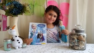 OPENING DISNEY FROZEN MOVIE ELSA AND ANNA STICKERS BOOK