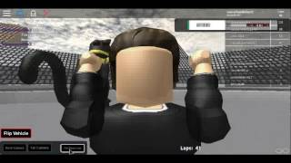 Racing around as Aric Almirola in NASCAR the Game: Martinsville in Roblox