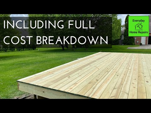 Rebuilding a Deck Part 3 - Laying New Deck Boards