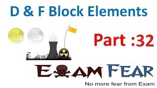 D & F Block Elements Chemistry CBSE class 12 XII