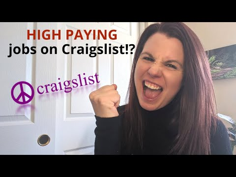 How To Find HIGH-PAYING Work At Home Jobs On Craigslist