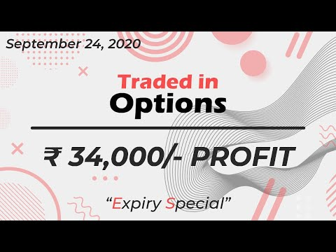 Live Intraday OPTION Trading || VP Financials || 24 SEPTEMBER 2020