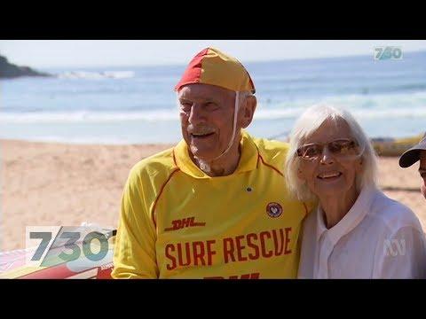 Meet Australia's oldest surf life saver