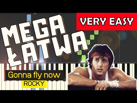 🎹 Gonna fly now (Rocky, Bill Conti) - Piano Tutorial (MEGA ŁATWA wersja) (VERY EASY) 🎹