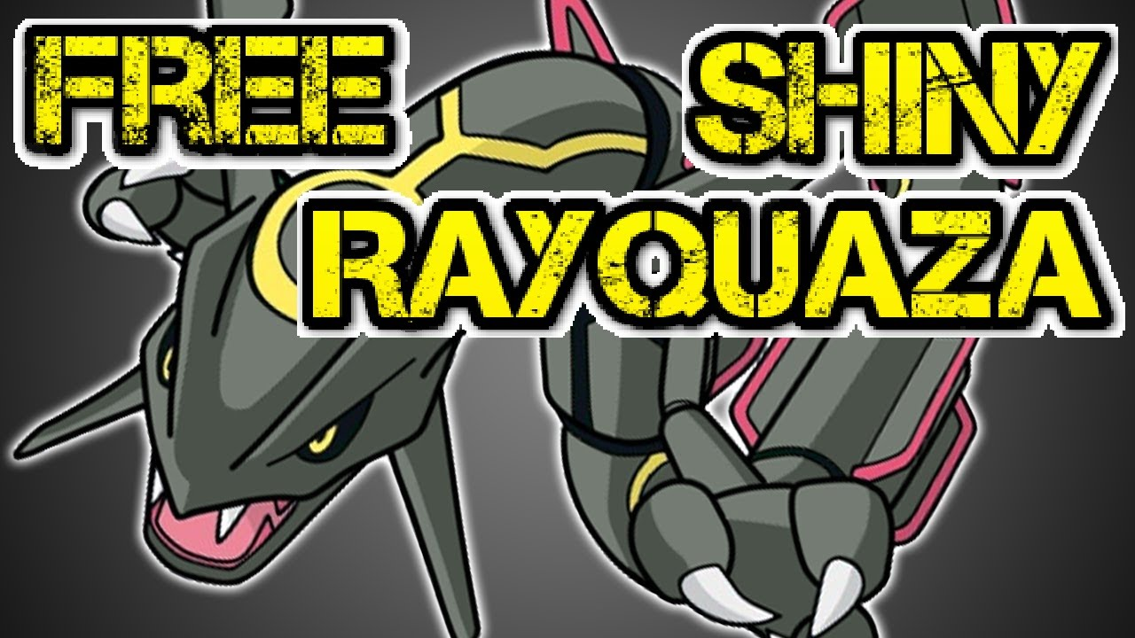 How to get a FREE SHINY RAYQUAZA from Mystery Gift!