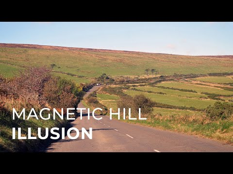 Magnetic Hill Optical Illusion on the Isle of Man