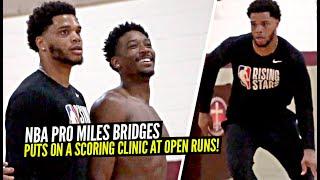 NBA Pro Miles Bridges Pulls Up to Open Runs & Puts On a SCORING CLINIC!