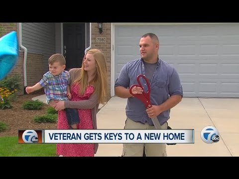 Veteran gets new home