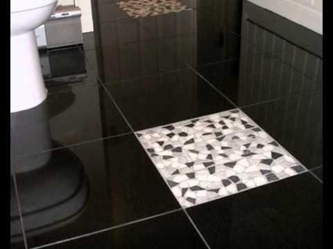 Укладка плитки на пол,с уклоном под слив воды ч.3 - YouTube