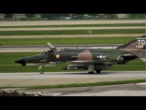 F4 Phantom Take Off with Slow Motion Replay