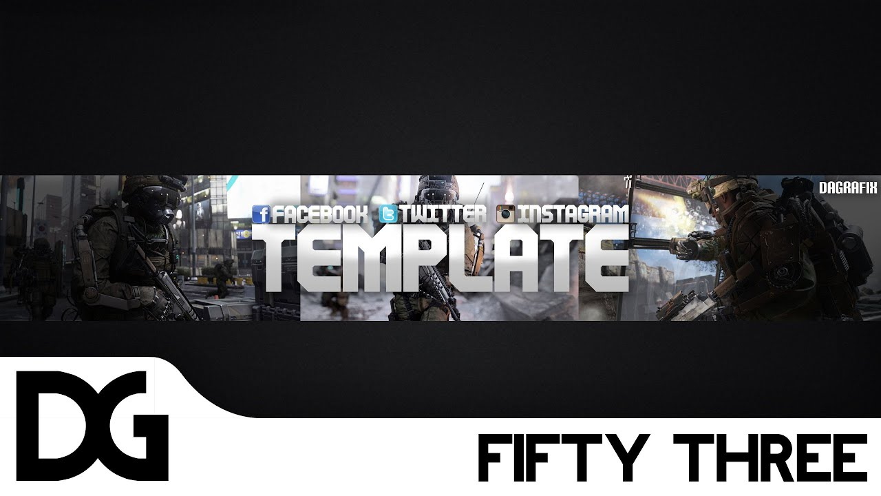 Cod channel art template 53 free photoshop download youtube cod channel art template 53 free photoshop download pronofoot35fo Images