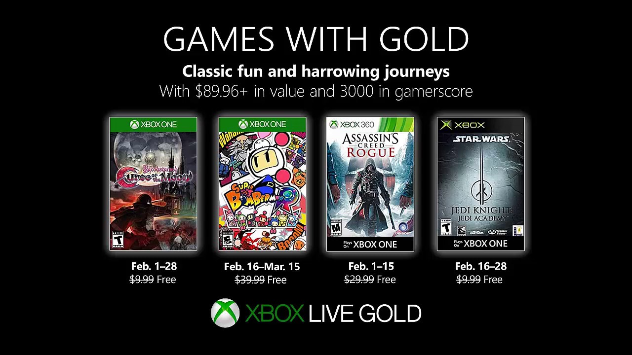 Games With Gold Febrero 2019 Xbox One Xbox 360