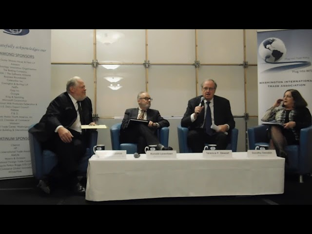 11/8/18 What's Next for the WTO | Part 1 (Introduction, Terence Stewart, Ronald Lorentzen)
