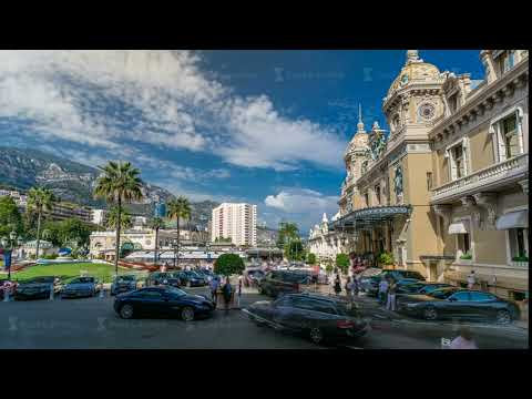 Grand Casino in Monte Carlo timelapse, Monaco. historical building