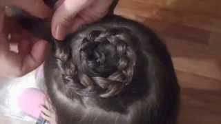 Экспресс прическа для девочки - коса улитка!