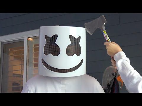 What's inside Marshmello Helmet?