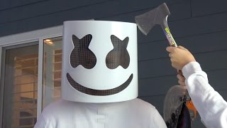 what s inside marshmello helmet