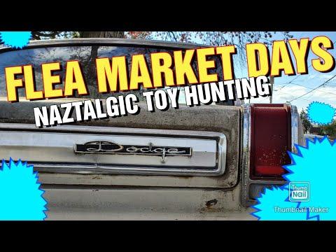FLEA MARKET Hunting for Vintage Toys & Video games in January (Naztalgic Fleas #79)