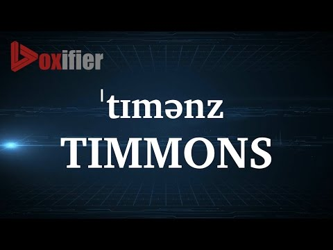 How to Pronunce Timmons in English - Voxifier.com