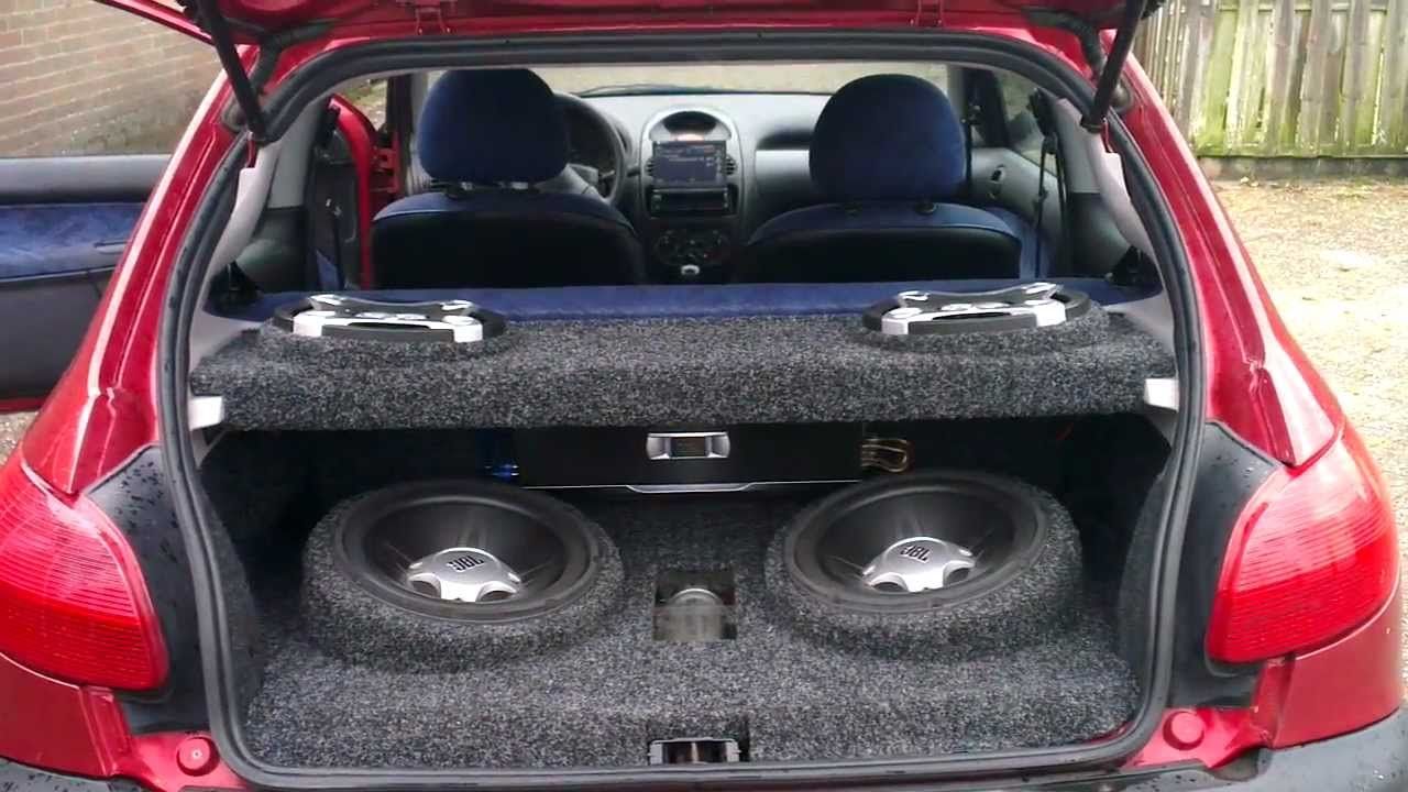 Jbl Subwoofers In Peugeut 206 1 1 Youtube