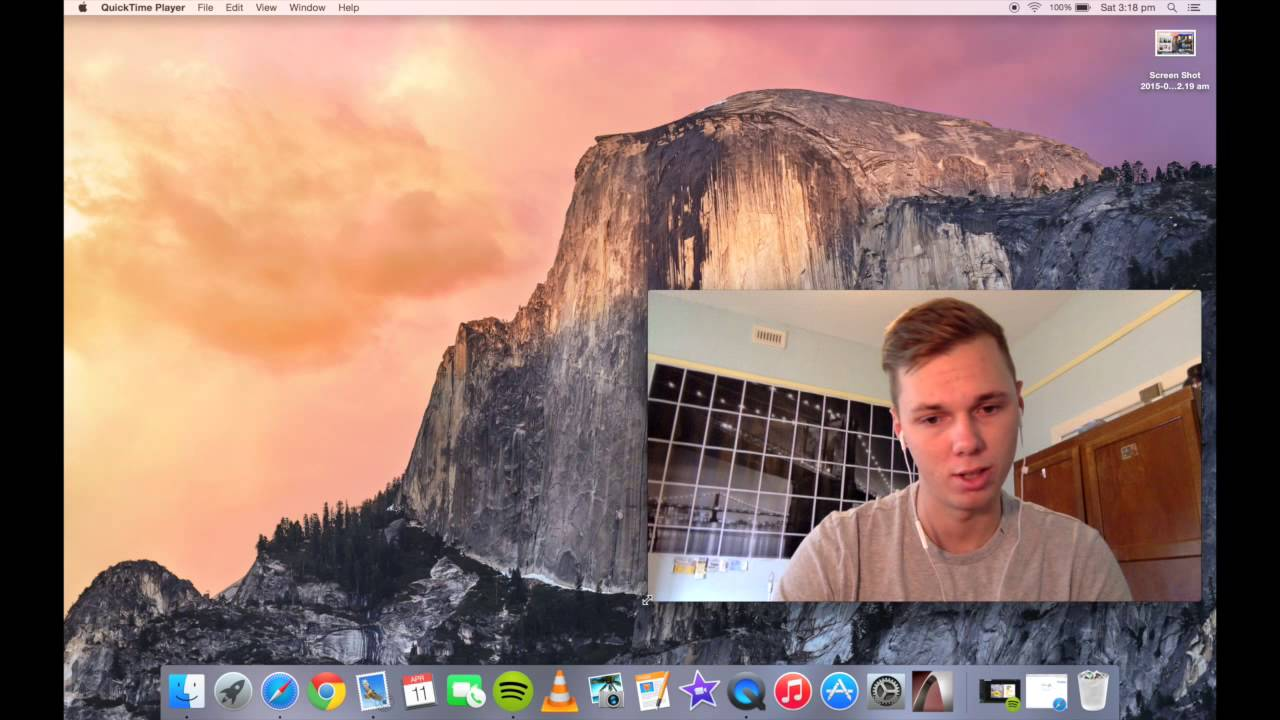 Screen and Webcam record on a Macbook