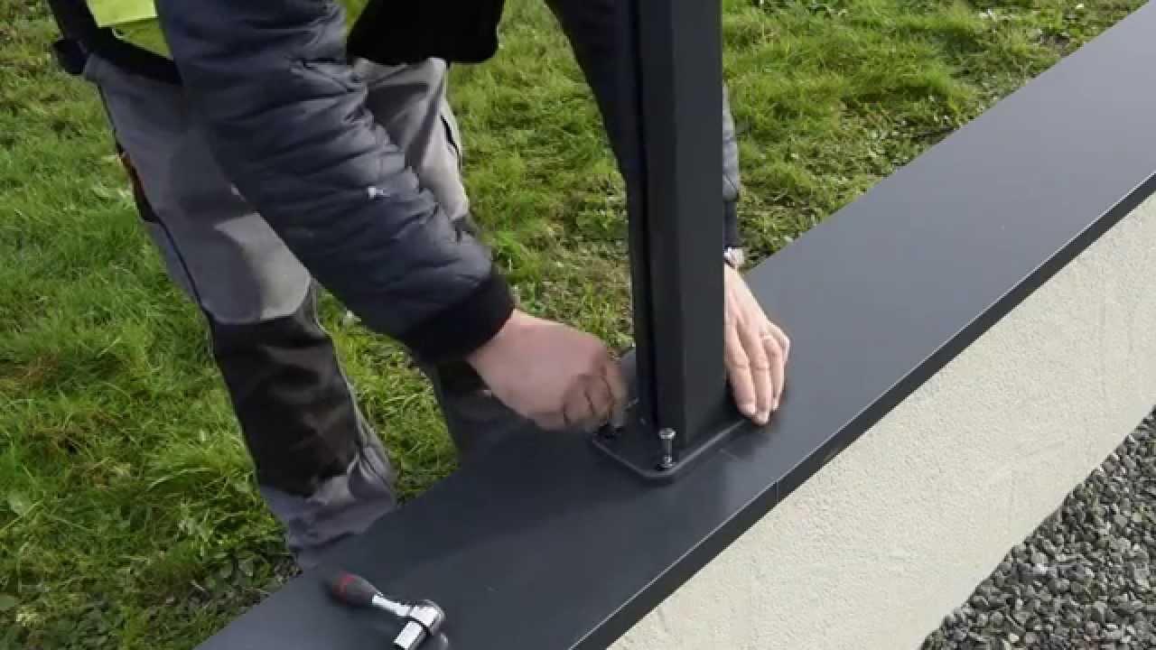montage de la couvertine pour clotures alculos