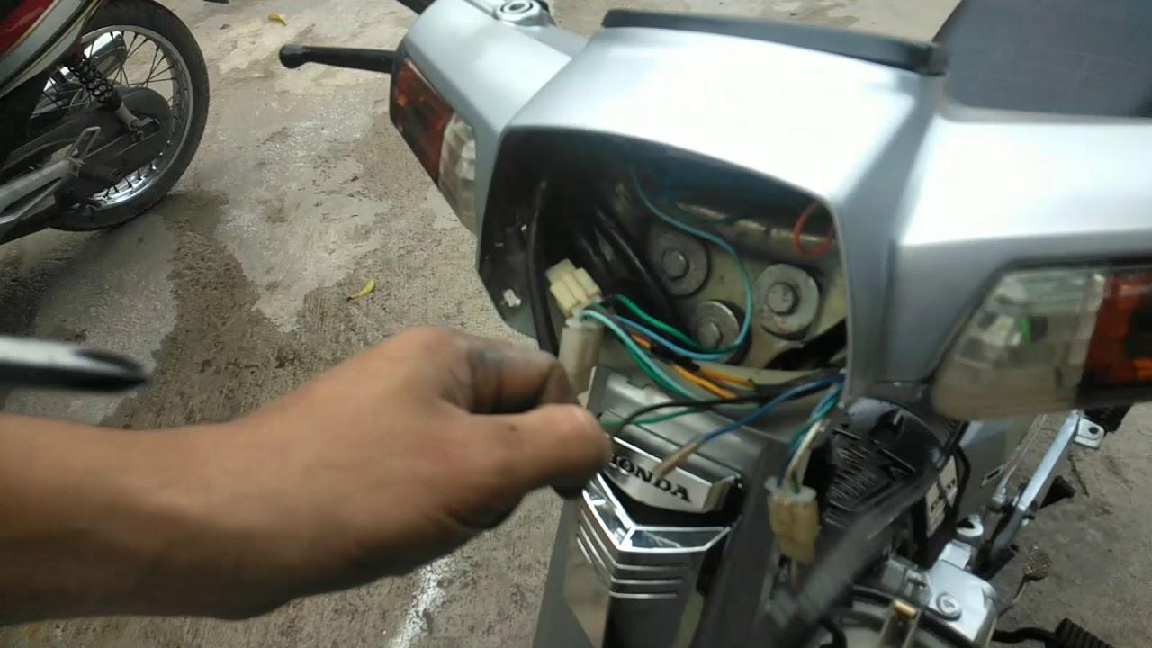 chuyển đổi điện máy sang điện bình cho đèn pha xe máy !!