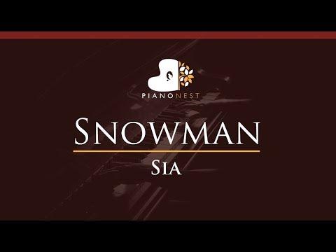Sia - Snowman - HIGHER Key (Piano Karaoke / Sing Along)