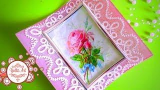 Рамка для фото / Красивая роспись / Декор
