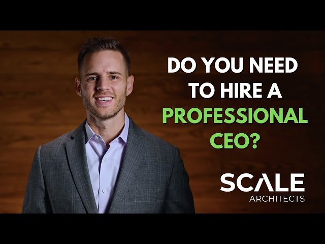 Do you need to hire a professional CEO?