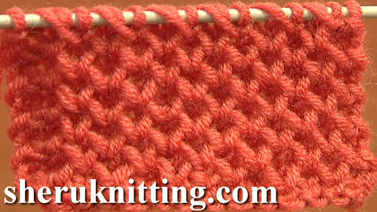 Knitting Stitches How To : Knitting Stitch Patterns Tutorial 4 Honeycomb Knitting Stitch How to - YouTube