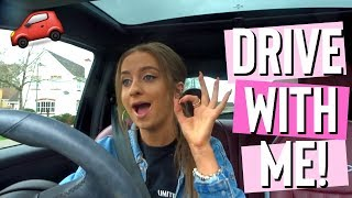 DRIVE WITH ME | storytime: how i passed my driving test first time & i crashed into a wall