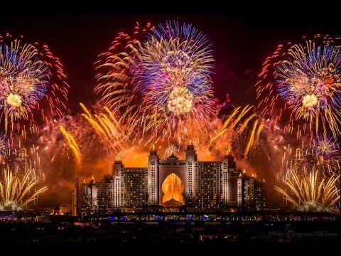 Dubai Atlantis Fireworks World Record 2014