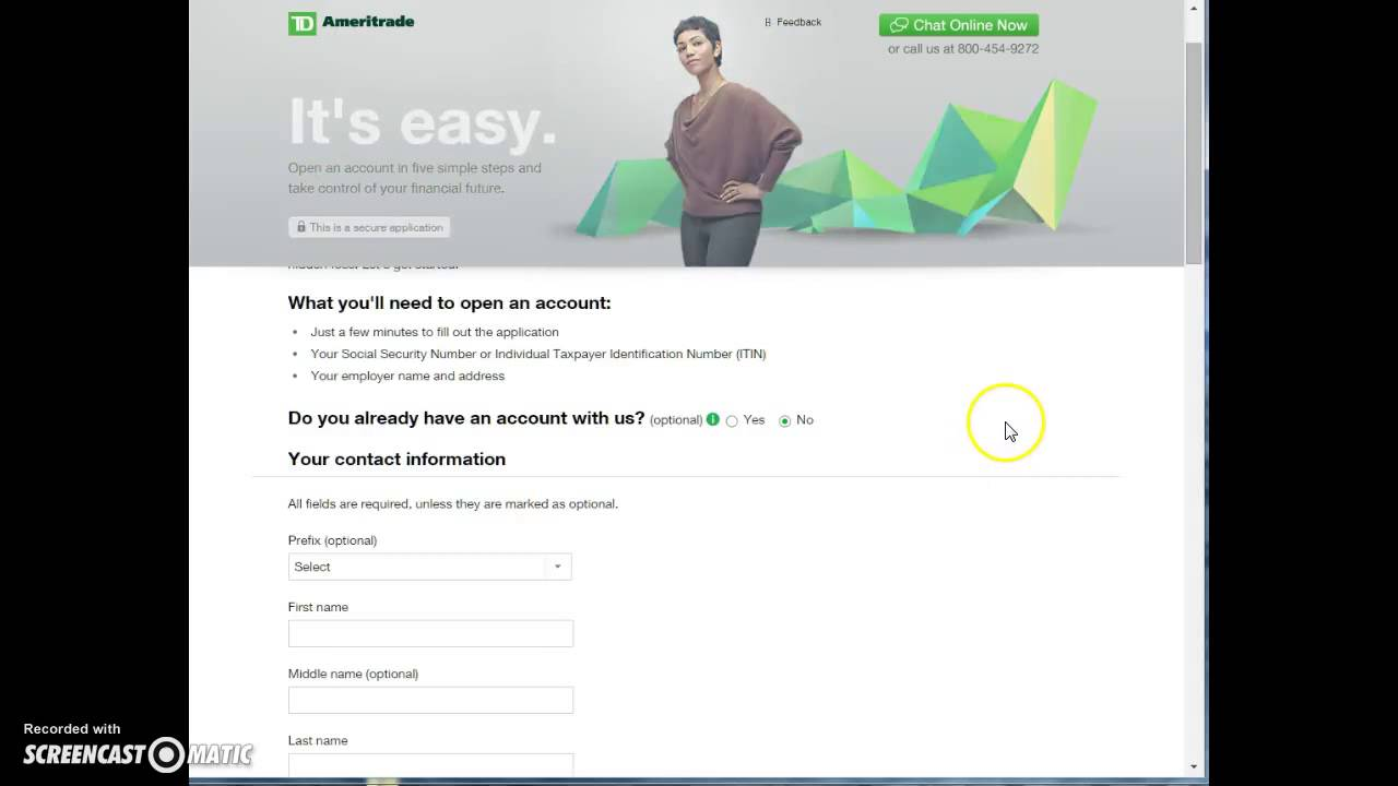 Td ameritrade joint account